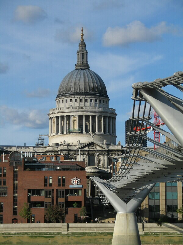 Foto av St. Paul's Cathedral i London City